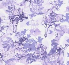 Cicely Mary Barker Flower Fairies Dream Land Characters on Lilac Fabric - FQ