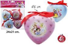 ♥ Disney Weihnachtskugeln Princess Ø 8 cm Baumschmuck Weihachten 4 tlg. NEU ♥