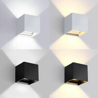 12W LED Wall Light Up Down Cube Indoor Outdoor Adjustable Wall Sconce Lamp