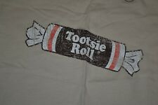 Retro Tootsie Roll Sweet & Delicious Candy Logo T Shirt Womens Jrs Small New NWT