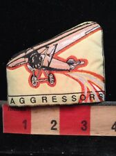 Airplane ~ AGGRESSORS ~ WOVEN LABEL ( Patch - Ish ) 66WB