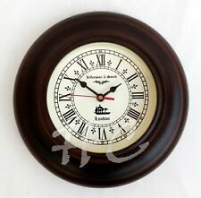 "Antique Style Wooden Wall Clock JEFFERSONN & SMITH LONDON 9"" Nautical Home Decor"