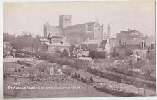 St.Albans.U.K.General View of the Abbey from the N.W.,Hertfordshire,c.1909