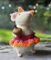 Needle felted mice Handmade art OOAK  love gifts toy Animals presents Felt mouse