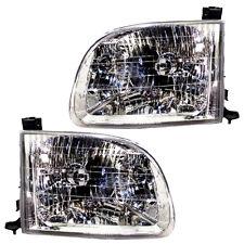 Pair Set Left & Right Toyota Tundra 00-04 Headlights Headlamps Reg/Ext Cab