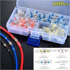 Boxed 100Pcs Heat Shrink Solder Sleeve Butt Splice Wire Connector Waterproof Kit