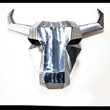 Stierkopf Wandtrophäe aus Stahl von LICHTfunken *Hochglanz* Bulle Stier Schädel