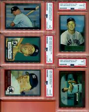 19- 1996 TOPPS FINEST CHROME MICKEY MANTLE PSA 9 10 SET YANKEES 1951 1952 1953