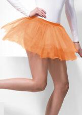 Womens Neon Orange Net Tutu