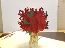Beautiful 3D Pop up Bunch Of Roses. Idea for Valentine's, Mother's day, any Occa