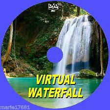 CHILL OUT TO A VIRTUAL WATERFALL VIDEO DVD FOR FLATSCREEN, PLASMA, LED TV/PC NEW