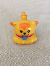 Vintage Mega Bloks Yellow & Orange Tabby Kitty Cat Kitten Figure Block
