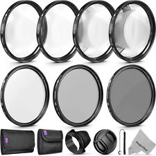 58mm Altura Photo Professional UV CPL ND4 Lens Filter and Close-Up Macro Kit