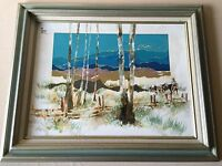 """Original Oil Painting Landscape, Signed by Artist (Pileggi?), Framed, 23"""" x 17"""""""