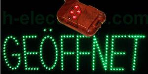 LED GEÖFFNET GRÜN Open Schild Regenschutz Wasserdicht Außen Reklame Neon Blinken
