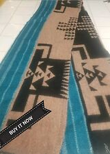 "BUY IT NOW PENDLETON WOOLEN MILL BLANKET REMNANT 66""X 9"" WOOL FABRIC TRIBAL"