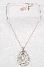 Jessica Simpson Gold/White Stone Necklace