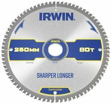 IRWIN IRW1897427 250 x 30mm 80-Teeth Construction Circular Saw Blade with ATB To