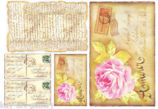 RICE DECOUPAGE PAPER / ROSES OF / CRAFT PAPER / DECOUPAGE SHEETS /SCRAPBOOKING