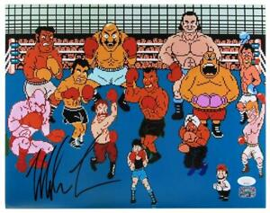Mike Tyson Punch Out KO Nitendo  Signed/Autographed 11x14 Photo JSA 160867