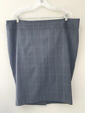 New Torrid Black Lavender Plaid Pencil Skirt Plus Size 18 Womens
