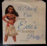 Personalised Moana White Cake / Party Bags
