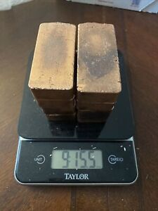 Copper Bars Almost 10 Pounds Ounces Hand Poured Stackable .999 Copper Bar