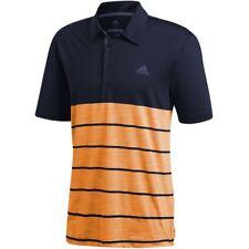 4670a869 adidas Golf Mens 2018 Ultimate365 Heather Stretch Short Sleeve Polo Shirt  Top XL Indigo/gold