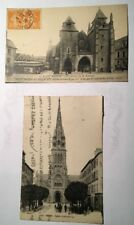 LOT de 2 CARTES POSTALES ANCIENNES de BRETAGNE de 1926 et 1929