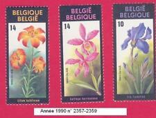 Timbres année 1990. poste Floralies Gantoises VIII. N° 2357-2358-2359