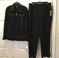 NWT ALLISON DALEY Womens 2 PC Gray Pants Set w/ Jacket Top Sz Large & 16 New