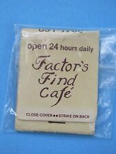 1980s Matches Matchbook ~ 24 Hours FACTOR'S FIND Cafe ~ NYC, NEW YORK ** CLOSED