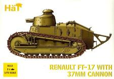 HaT Miniatures 1/72 RENAULT FT-17 TANK with 37mm CANNON Figure Set
