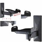 VideoSecu One Pair of Side Clamping Bookshelf Speaker Mounting Bracket Black