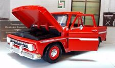 1966 Chevrolet C-10 Fleetside Pickup Truck Diecast Scale Model 1:24 Red 73355