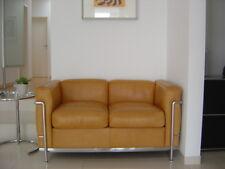 Cassina Le Corbusier LC2 Sofa Leder Naturale Cognac Chrom TOP