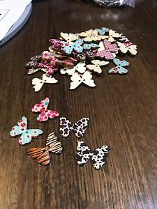 Butterfly Novelty Button 5 Pack