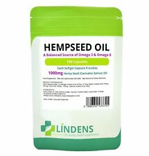 Lindens Hempseed Oil 1000mg 100 Capsules