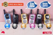 2PCS Radio T388 Mini Walkie Talkie 2-Way 0.5W Handheld UHF Home Travel Use