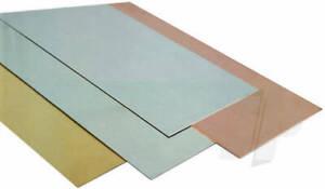 K&S Metals SHEET METAL BRASS/COPPER/TIN/ALUM/S STEEL Imperial Range Precision