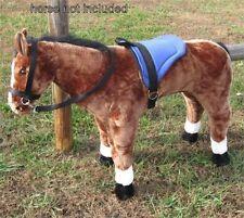 MELISSA & DOUG GIANT PLUSH HORSE - SADDLE SET BLUE