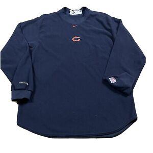 90s VTG NIKE CENTER SWOOSH Chicago BEARS L Mini Embroidered Fleece Sweatshirt