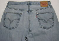 LEVI'S 505 Men's 36x29 Regular Fit Straight Leg Denim Jeans Light Wash_646