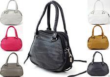 Damen-Clutch-Taschen aus Leder mit Fächern und Reißverschluss