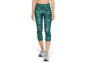 Women's HeatGear Under Armour Capri Print Leggings 1328992-416 2XL NWT