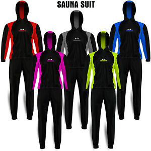 Premium Sauna Suit Sweat Suits Gym Fitness Weight Loss Hooded Slimming Tracksuit