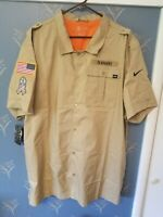 SEATTLE SEAHAWKS Nike Salute to Service Sideline Button-Up Short Sleeve Size 3XL