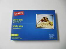 "STAPLES PHOTO PLUS GLOSS PHOTO PAPER 4"" X 6""  60 SHEETS"