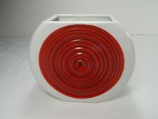 Thomas Germany Mid Century Modern Red Circles Vase.
