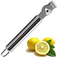 Lemon Lime Orange Fruit Citrus Zester Peeler Kitchen Craft Stainless Steel Mini